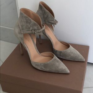 Gianvito Rossi grey suede pumps